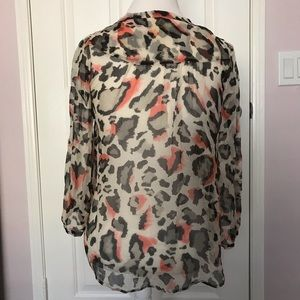 Maeve Tops - Anthropologie Maeve Leopard Animal Print Blouse